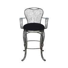 "Flow Armed 29"" Bar Stool with Cushion"