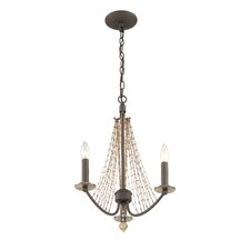 Swept Away 3 Light Mini Candle Chandelier