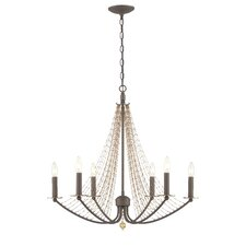 Swept Away 6 Light Candle Chandelier