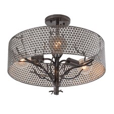 Treefold 3 Light Semi Flush Mount