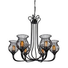 Encaged 6 Light Mini Chandelier