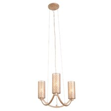 Casablanca 3 Light Mini Chandelier