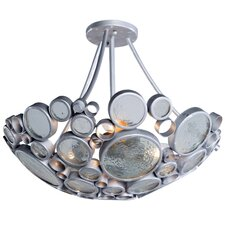 Recycled Fascination Semi Flush Mount Ceiling Light