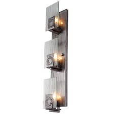 Polar 3 Light Vertical Recycled Wall Sconce