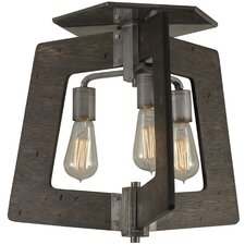 Lofty 3 Light Semi Flush Mount
