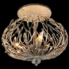 Bask 3 Light Semi Flush Mount
