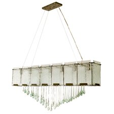 Recycled Rain 7 Light Kitchen Island Pendant