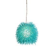 Urchin Mini Pendant in Aqua Velvet