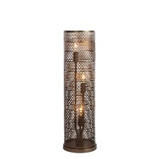 "Lit-Mesh Test 22.25"" H Table Lamp with Drum Shade"