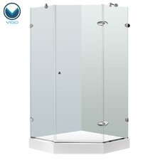 Verona 40 x 40-in. Frameless Neo-Angle Shower Enclosure with .375-in. Clear Glass and Chrome Hardware