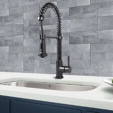 Edison Single Handle Pull-Down Spray Kitchen Faucet, Matte Black