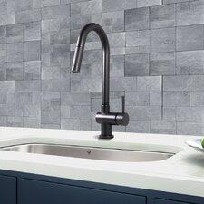 Gramercy Single Handle Pull-Down Kitchen Faucet, Matte Black