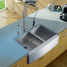 Zurich Single Handle Pull-Down Spray Kitchen Faucet with Soap Dispenser