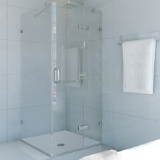 Monteray 36 x 36-in. Frameless Shower Enclosure with .375-in. Clear Glass and Chrome Hardware
