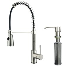 Brant Single Handle Pull-Down Spray Kitchen Faucet with Soap Dispenser