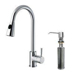 Weston Single Handle Pull-Down Spray Kitchen Faucet with Soap Dispenser