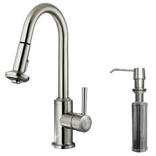 Astor Single Handle Pull-Down Spray Kitchen Faucet with Soap Dispenser