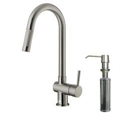 Gramercy Single Handle Pull-Down Kitchen Faucet with Soap Dispenser