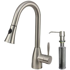 Aylesbury Single Handle Pull-Down Spray Kitchen Faucet with Soap Dispenser