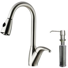 Romano Single Handle Pull-Down Spray Kitchen Faucet with Soap Dispenser