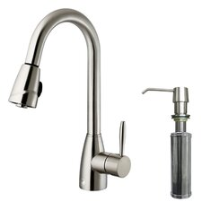 Graham Single Handle Pull-Down Spray Kitchen Faucet with Soap Dispenser