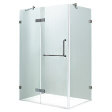 Monteray 36 x 48-in. Frameless Shower Enclosure with .375-in.