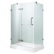 Monteray 36 x 48-in. Frameless Shower Enclosure with .375-in. Clear Glass and Chrome Hardware