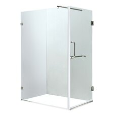 Pacifica 36 x 48-in. Frameless Shower Enclosure with .375-in. Clear Glass and Chrome Hardware