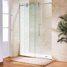 Elan 56 to 60-in. Frameless Sliding Shower Door  with .375-in. Clear Glass and Stainless Steel Hardware