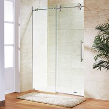 Elan 64 to 68-in. Frameless Sliding Shower Door  with .375-in. Clear Glass and Stainless Steel Hardware