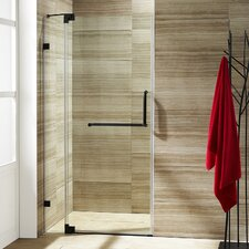 Pirouette 36 to 42-in. Frameless Shower Door with .375-in. Clear Glass and Hardware