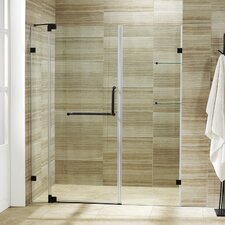 Pirouette 48 to 54-in. Frameless Shower Door with .375-in. Clear Glass and Hardware