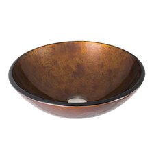 Russet Glass Vessel Bathroom Sink