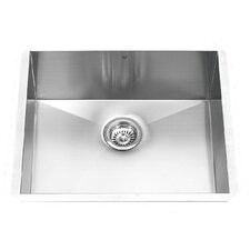 23 inch Undermount Single Bowl 16 Gauge Stainless Steel Kitchen Sink