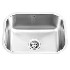 23 inch Undermount Single Bowl 18 Gauge Stainless Steel Kitchen Sink