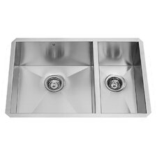 29 inch Undermount 70/30 Double Bowl 16 Gauge Stainless Steel Kitchen Sink