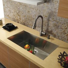 30 inch Undermount Single Bowl 16 Gauge Stainless Steel Kitchen Sink