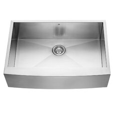 33 inch Farmhouse Apron Single Bowl 16 Gauge Stainless Steel Kitchen Sink
