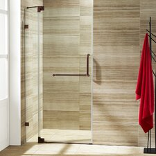 Pirouette 30 to 36-in. Frameless Shower Door with .375-in. Clear Glass and Hardware