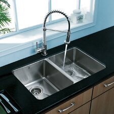 "29.25"" x 18.5"" Undermount Double Bowl Kitchen Sink"