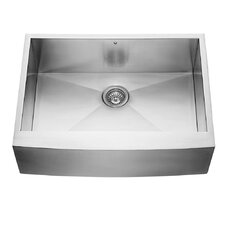 "30"" Farmhouse Apron Single Bowl 16 Gauge Stainless Steel Kitchen Sink"