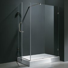 Pacifica 36 x 48-in. Frameless Shower Enclosure with .375-in.