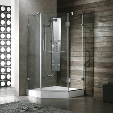 Piedmont 36 x 36-in. Frameless Neo-Angle Shower Enclosure with .375-in.