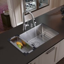 """30"""" x 19"""" Undermount Kitchen Sink"""