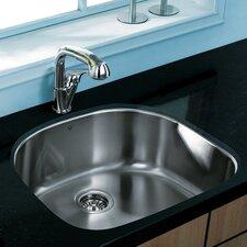 """23.5"""" x 21.25"""" Shaped Undermount Kitchen Sink"""