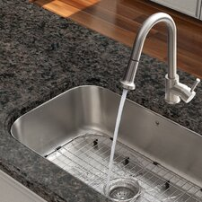 Harrison Single Handle Pull-Down Spray Kitchen Faucet with Deck Plate