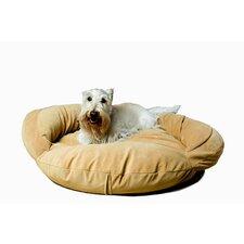 Velvet Microfiber Bolster Dog Bed