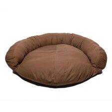 Saddle Stitch Twill Bolster Dog Bed