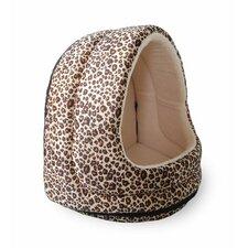 Cheetah Fur Hood Cat Bed