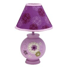 "Pretty in Purple 13"" H Table Lamp with Empire Shade"